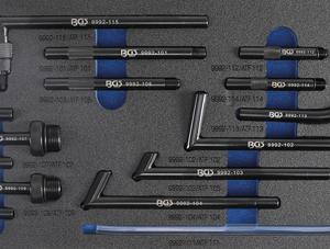 Váltófeltöltő adapter készlet 15 részes BGS-9992-1