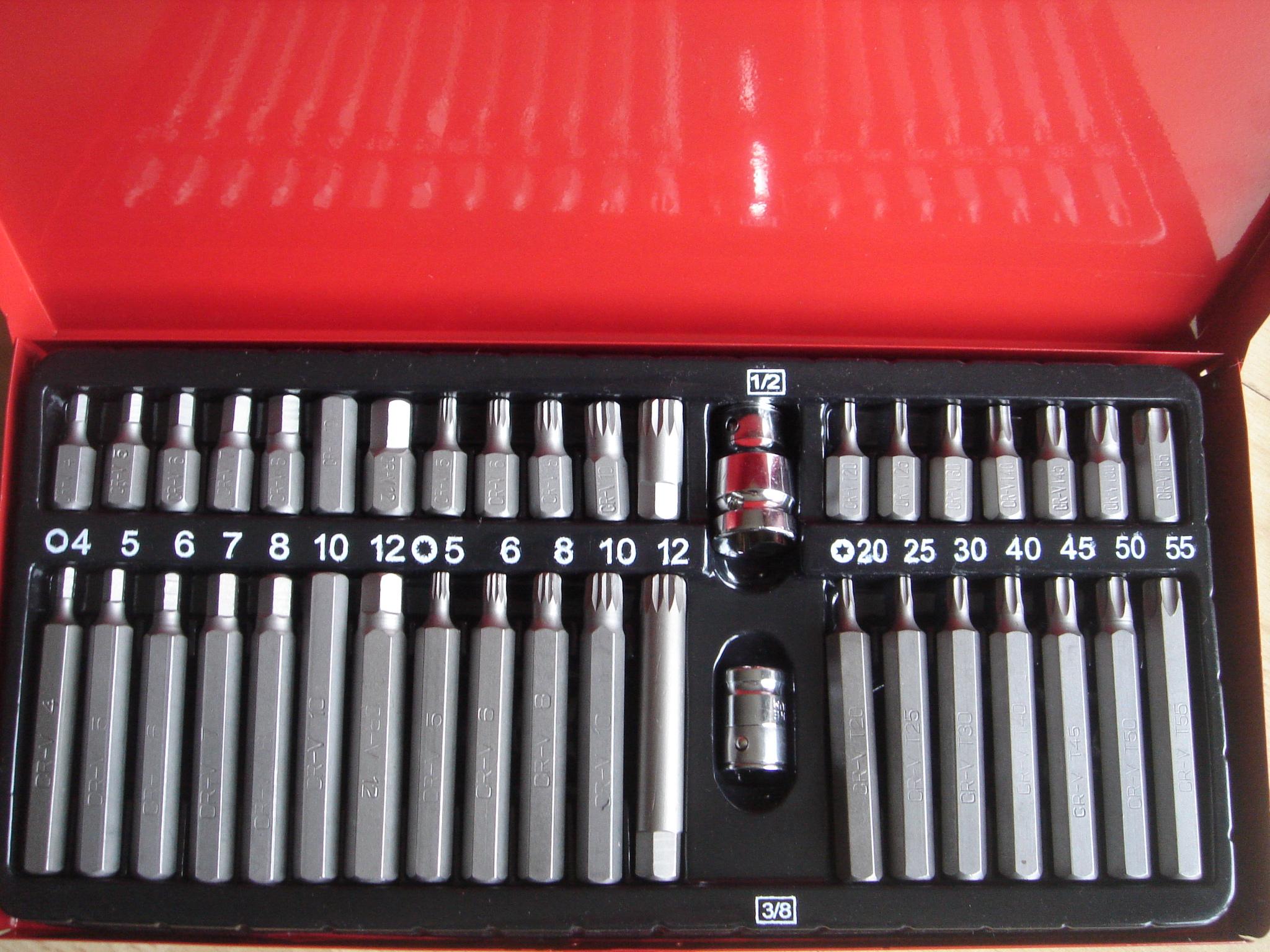 Kombinált 40 db-os torx/imbusz/xzn bit készlet G10030